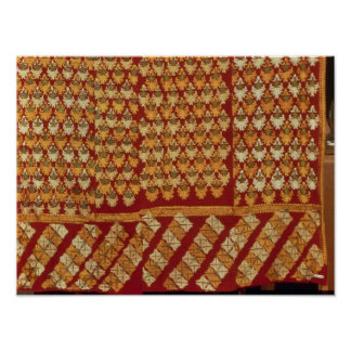 Indian Phulkeri embroidery Poster