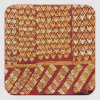 Indian Phulkeri embroidery Square Sticker