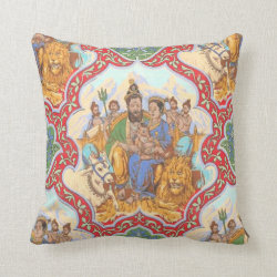 Indian Pictorial Victorian Pillow