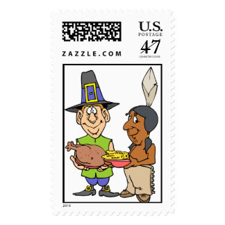 Indian Pilgrim Share Food Postage Stamp