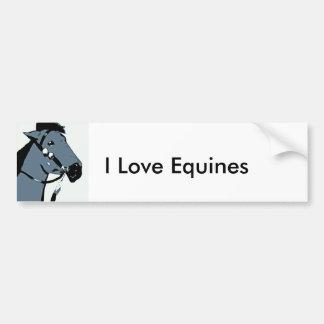 indian pony 2, I Love Equines Bumper Sticker