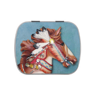 Indian Pony candy tin