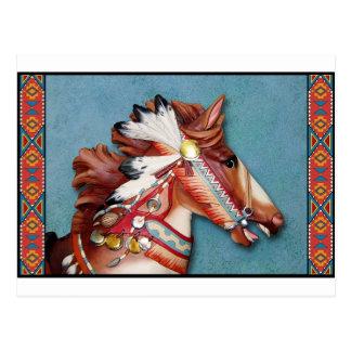 Indian Pony Head Postcard