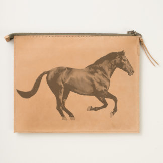 Indian Pony Horse mustang galloping Travel Pouch
