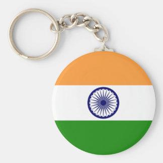 Indian pride basic round button keychain