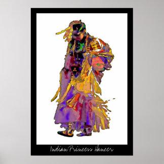 Indian Princess Dancer~poster Poster