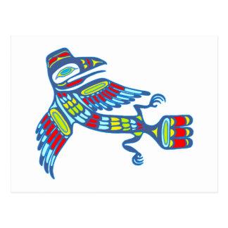 Indian raven native one american Raven Postcard
