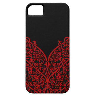 Indian Red Black Motif Design Lace Vintage Pattern iPhone 5 Cases