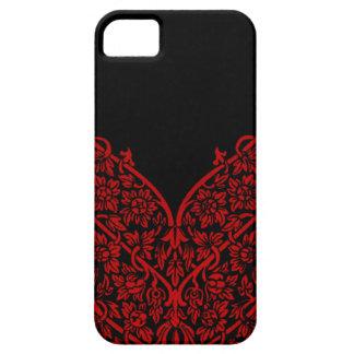 Indian Red Black Motif Design Lace Vintage Pattern iPhone SE/5/5s Case