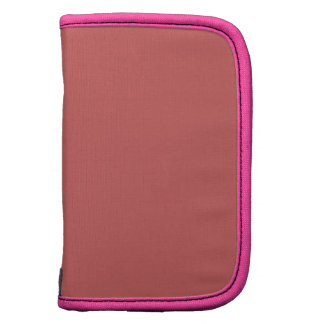 Indian Red Pink Modern Monochrome Folio Planners