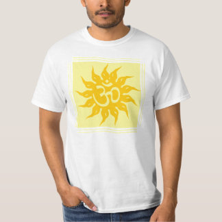 Indian Religious Symbol : Om and Surya T-Shirt