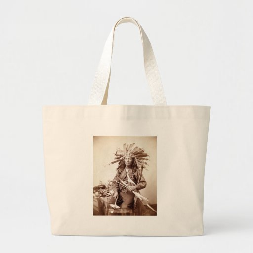 Indian Revolt Instigator, 1890 Canvas Bags