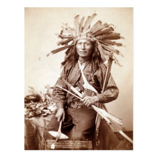 Indian Revolt Instigator, 1890 Post Card
