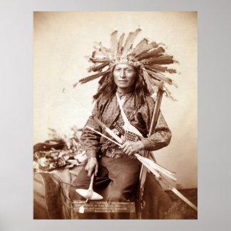 Indian Revolt Instigator, 1890 Poster