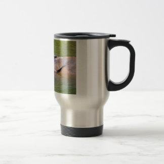 Indian rhinoceros in water travel mug
