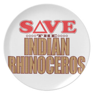 Indian Rhinoceros Save Plate