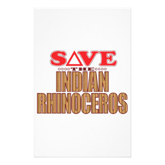 Indian Rhinoceros Save Stationery