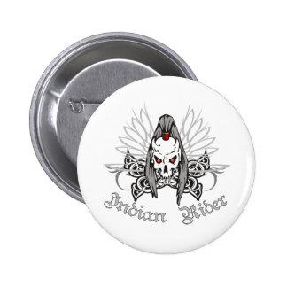 Indian Rider 2 Inch Round Button