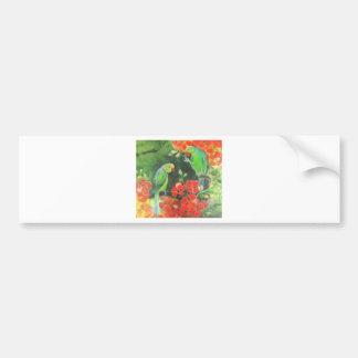 indian ring necks on a flamboyant tree bumper sticker