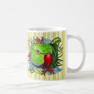 Indian Ringneck Parrot Classic White Coffee Mug