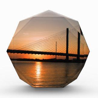 Indian River Bridge Orange Sunset Acrylic Award