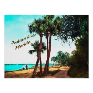 Beach Themed Indian River, Florida Poster