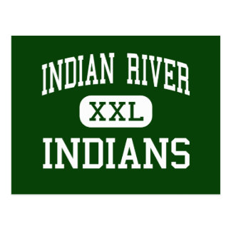 Indian River - Indians - High - Frankford Delaware Post Card