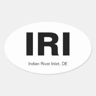 Indian River Inlet, DE Oval Sticker