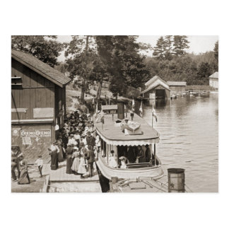 Indian River Michigan steam boat excursion Postcard