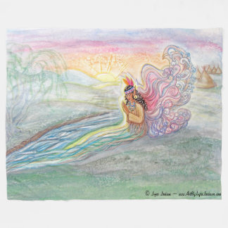 Indian River Woman Fairy Fleece Blanket