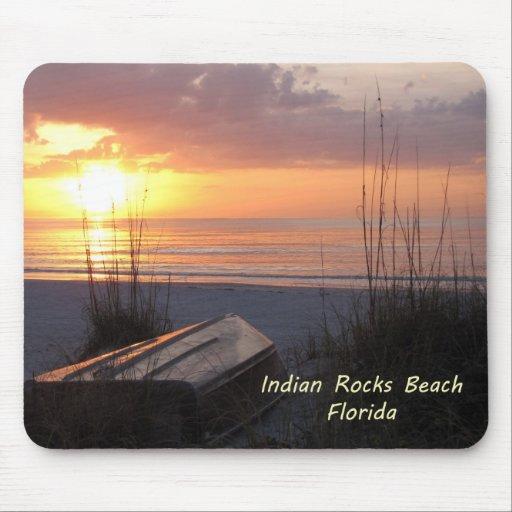 Indian Rocks Beach Florida Sunset Beach Boat Mousepad