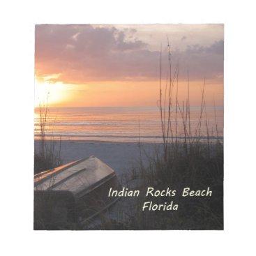 Beach Themed Indian Rocks Beach Florida Sunset Beach Boat Notepad