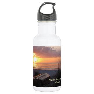 Indian Rocks Beach Florida Sunset Beach Boat Stainless Steel Water Bottle