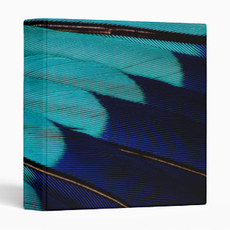 Indian Roller Feather Abstract Binder