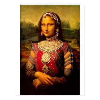 Indian Royal Monalisa Post Card