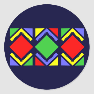 Indian sample native American pattern Classic Round Sticker