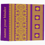 Indian Sari Design -Purple Binder