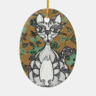 Indian Scribby Cat 2 Ornament
