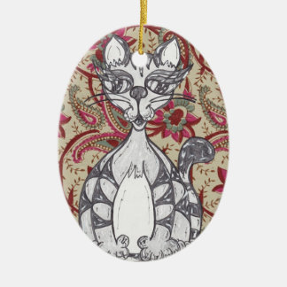 Indian Scribby Cat Ornament