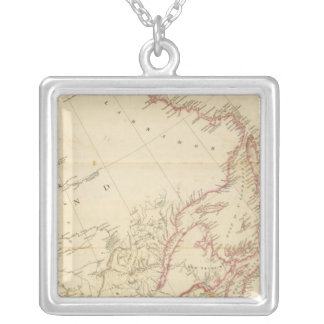 Indian Settlements in North America 2 Silver Plated Necklace
