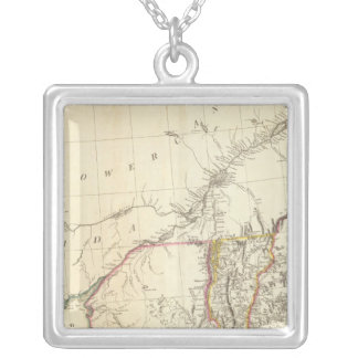 Indian Settlements in North America 5 Silver Plated Necklace
