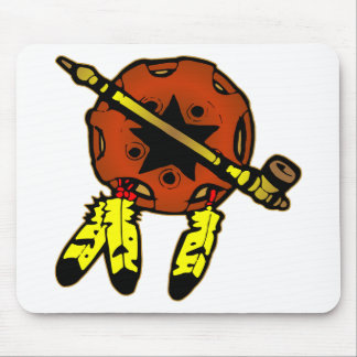 Indian Shield & Tobacco Pipe Mouse Pad