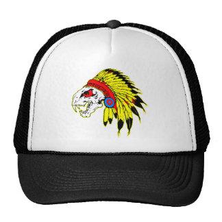 Indian Skull Headress Trucker Hat