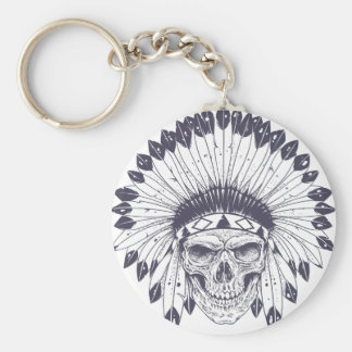 Indian Skull Keychain