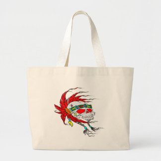 Indian Skull Tattoo Large Tote Bag