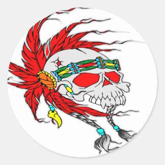 Indian Skull Tattoo Sticker