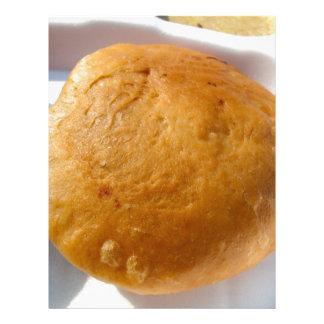 Indian snack food, oily custom letterhead