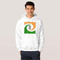 Indian spiral flag hoodie