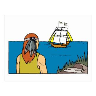 Indian Spots Mayflower Postcard