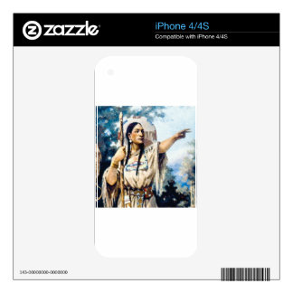 indian squaw woman decals for the iPhone 4S